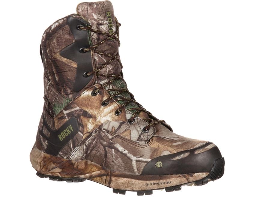 "Rocky Broadhead 8"" Waterproof 400 Gram Insulated Hunting Boots Ripstop Realtree Xtra Ca..."
