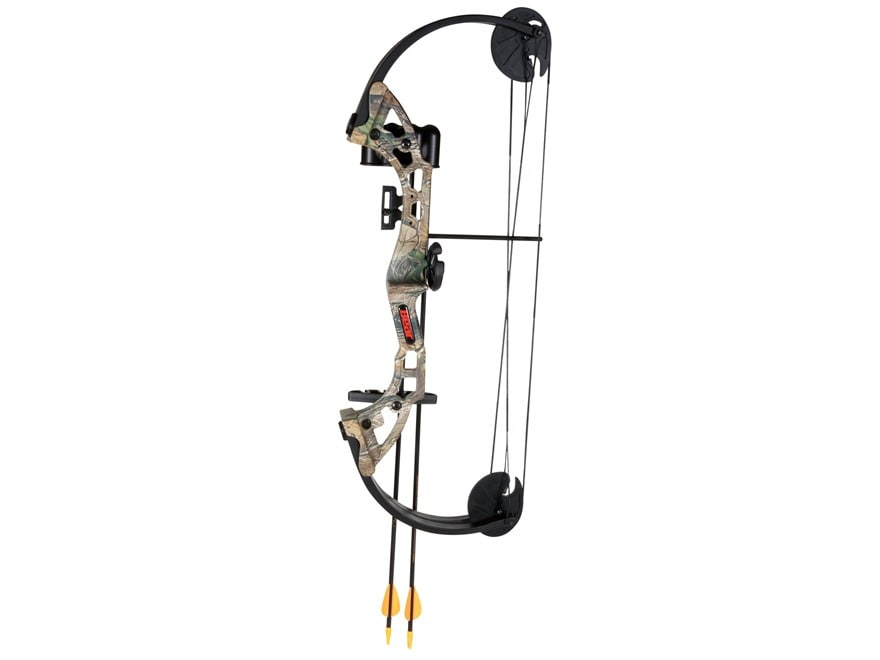 """Bear Archery Warrior Youth Compound Bow Package Right Hand 24-29 lb 19-25"""" Draw Length ..."""