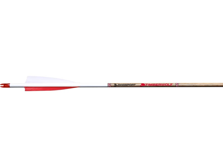 """Bloodsport Timber Wolf 500 Carbon Arrow 4"""" Feather Vanes Black Pack of 6"""