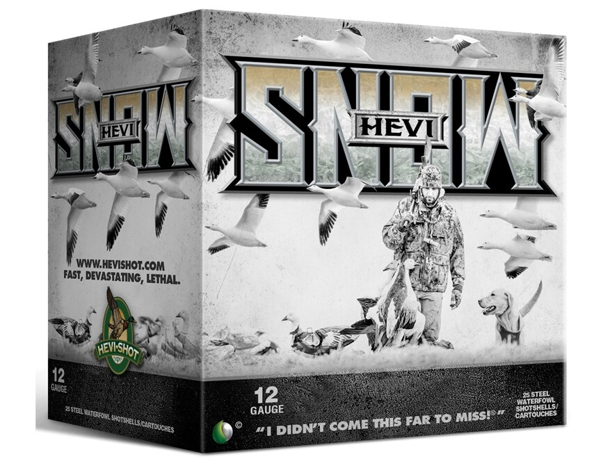 "Hevishot Hevi-Snow Waterfowl Ammunition 12 Gauge 3-1/2"" 1-3/8 oz BB Non-Toxic Shot"