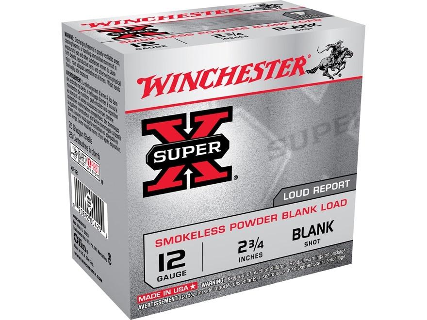 "Winchester Field Trial Popper Load Ammunition 12 Gauge 2-3/4"" Smokeless Blank"