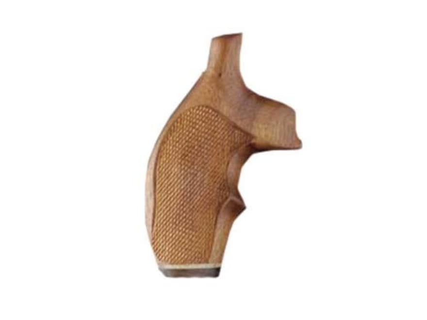 Hogue Fancy Hardwood Grips with Accent Stripe and Top Finger Groove S&W J-Frame Round B...