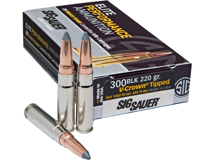 Sig Sauer Elite Performance Hunting HT Ammunition 300 AAC Blackout Subsonic 220 Grain V...