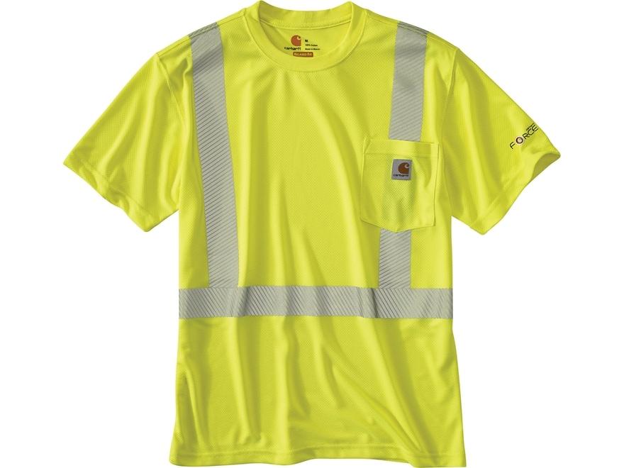 Carhartt Men's Force High Visibility Class 2 T-Shirt Short Sleeve Polyester