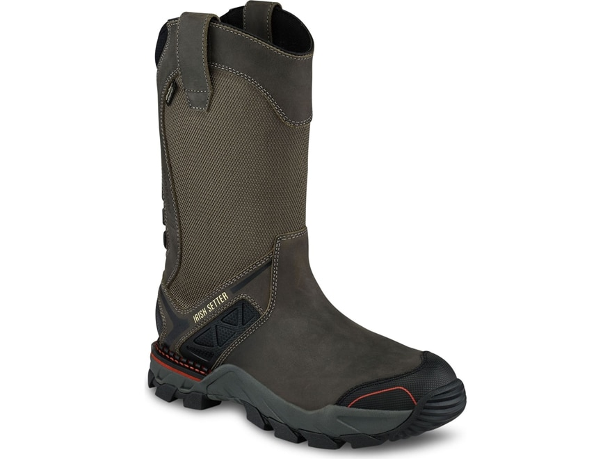 "Irish Setter Crosby 11"" Pull-On Waterproof Non-Metallic Safety Toe Work Boots Leather/N..."