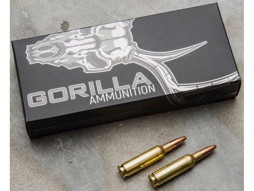 Gorilla Hunt Ammunition 6.5 Creedmoor 100 Grain Sierra Varminter Hollow Point Box of 20
