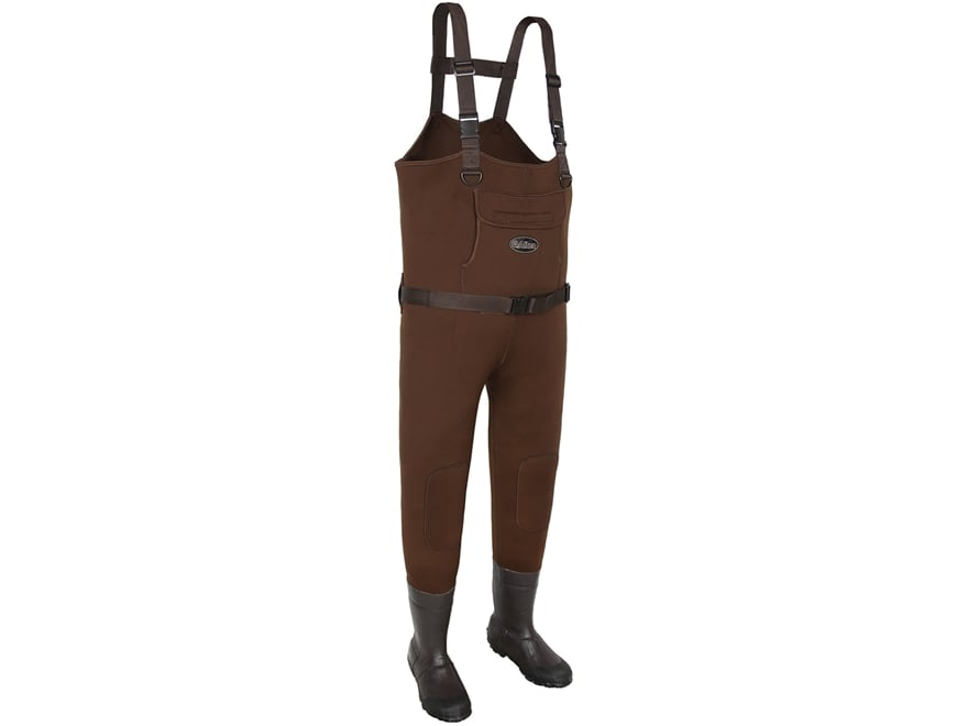 Allen Chesapeake 200 Gram Insulated Chest Waders Neoprene and Rubber Brown