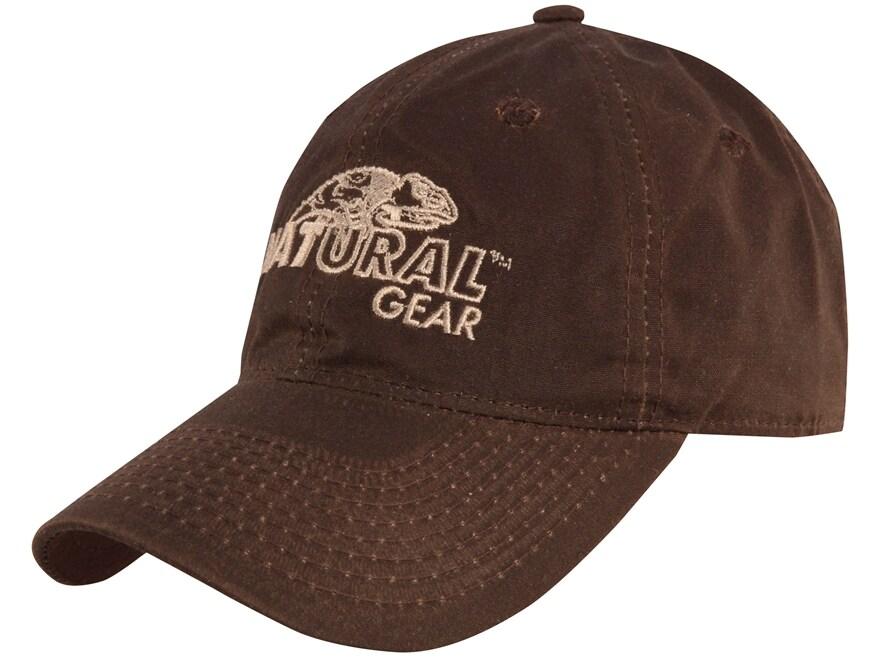 Natural Gear Waxed Cotton Logo Cap Brown