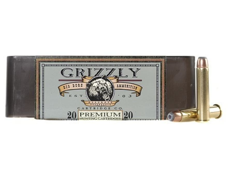 Grizzly Ammunition 45-70 Government +P 350 Grain Bonded Core Jacketed Hollow Point Box ...