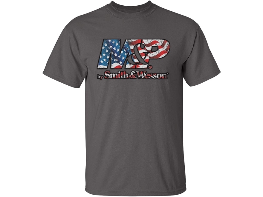 Smith & Wesson Men's M&P Flag Filled T-Shirt Short Sleeve Cotton
