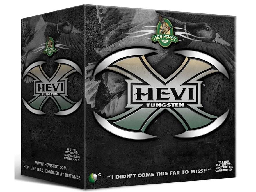 """Hevishot Hevi-X Waterfowl Ammunition 12 Gauge 3-1/2"""" 1-3/8 oz BB Non-Toxic Tungsten Shot"""
