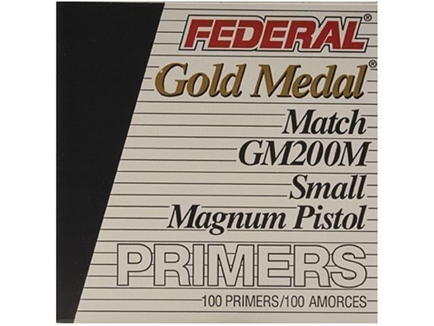 Federal Premium Gold Medal Small Pistol Magnum Match Primers #200M