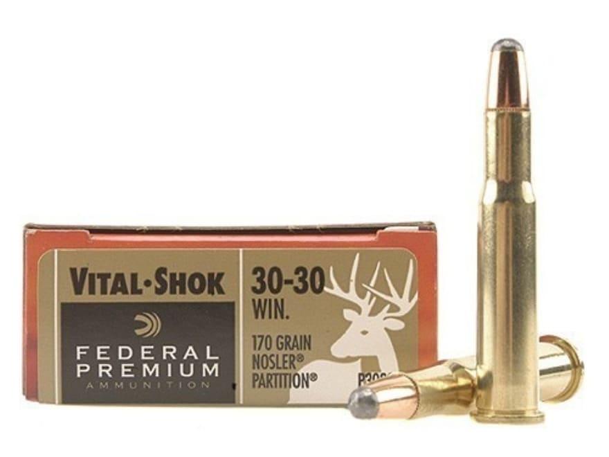 Federal Premium Vital-Shok Ammunition 30-30 Winchester 170 Grain Nosler Partition Box o...