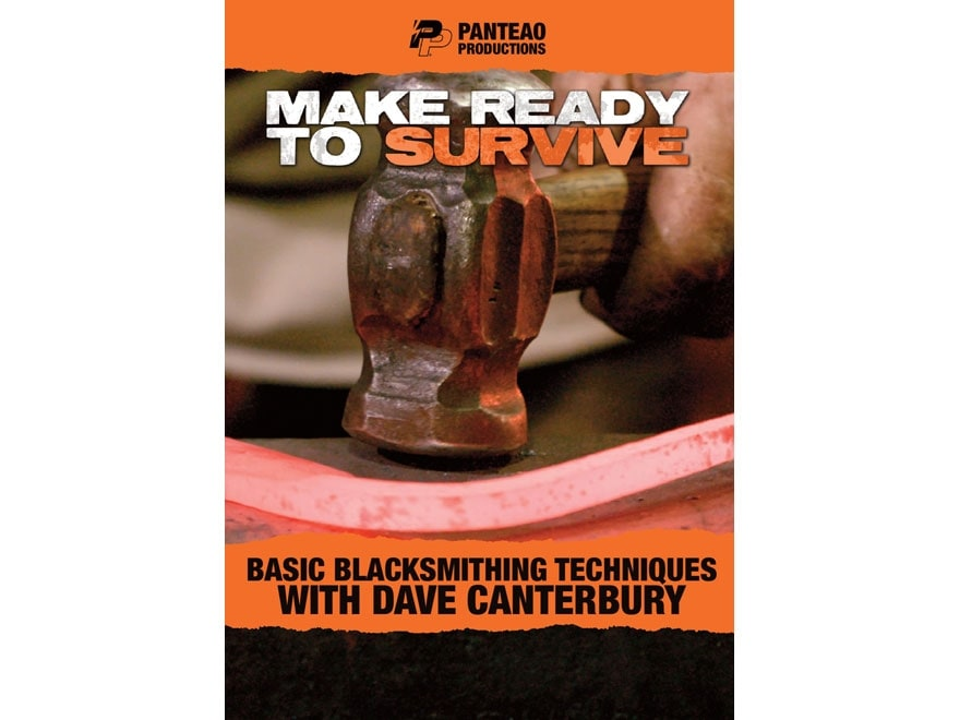 """Panteao """"Make Ready to Survive: Basic Blacksmithing Techniques with Dave Canterbury"""" DVD"""