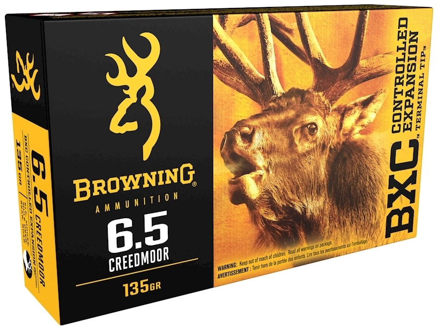 Browning BXC Controlled Expansion Ammunition 6.5 Creedmoor 135 Grain Terminal Tip