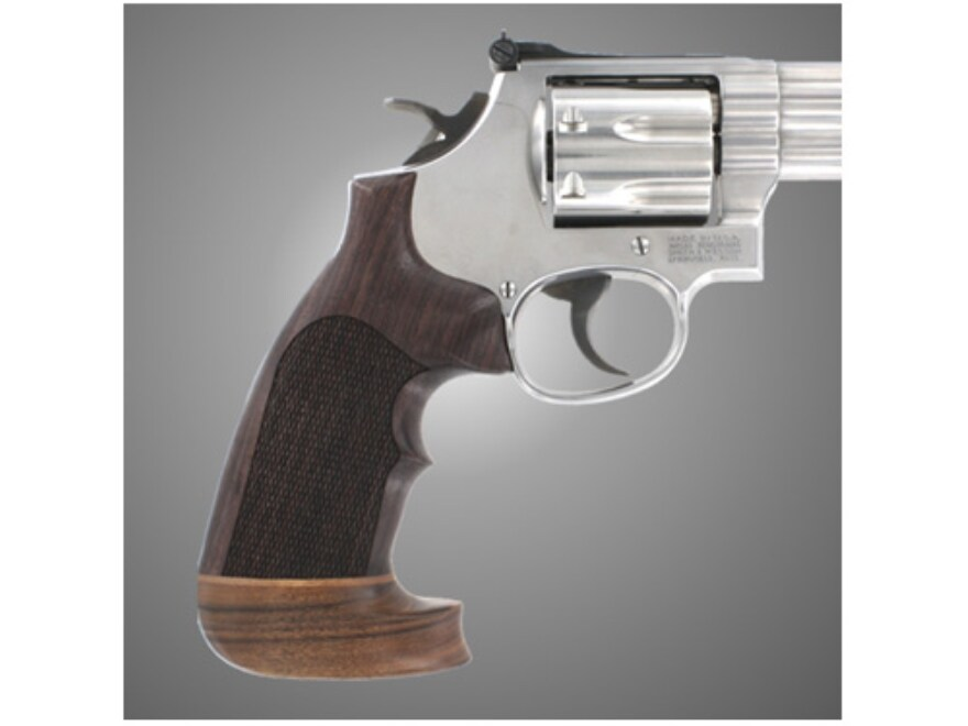 Hogue Fancy Hardwood Conversion Grips with Accent Stripe and Top Finger Groove S&W K, L...