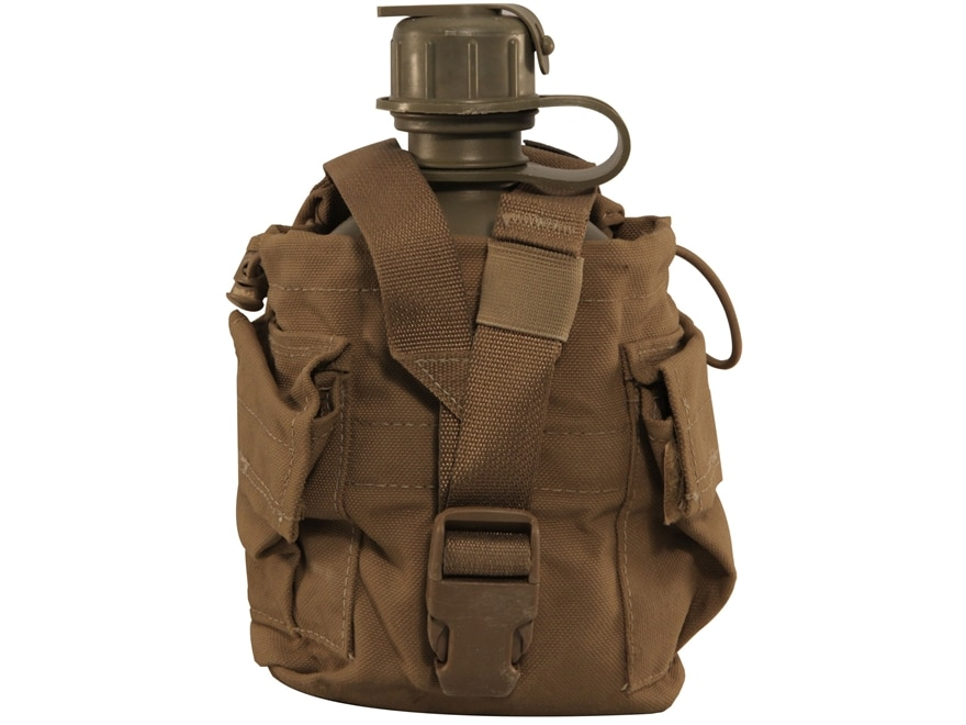 Military Surplus 1-Quart Canteen with MOLLE II Carrier