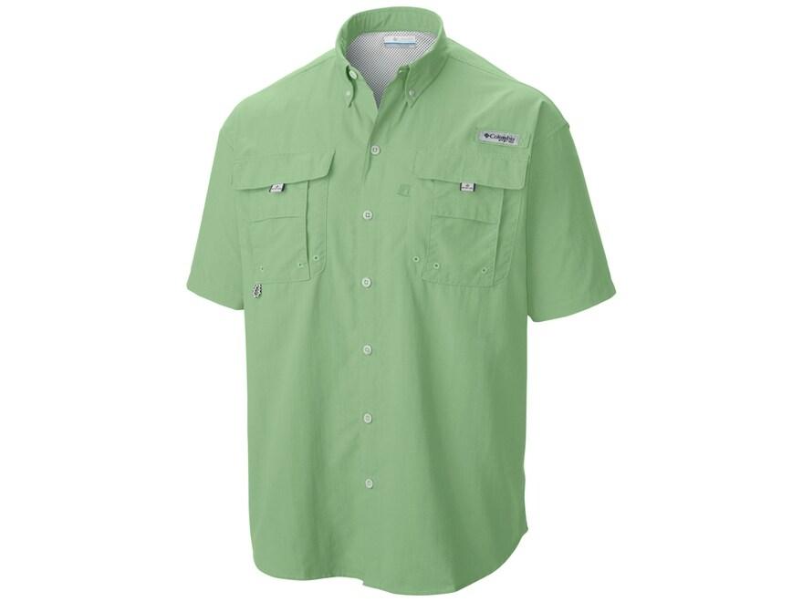 Columbia Men's PFG Bahama II Button-Up Shirt Short Sleeve Nylon