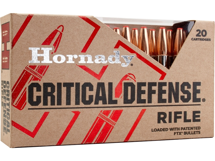 Hornady Critical Defense Ammunition 223 Remington 55 Grain Flex Tip Expanding Box of 20