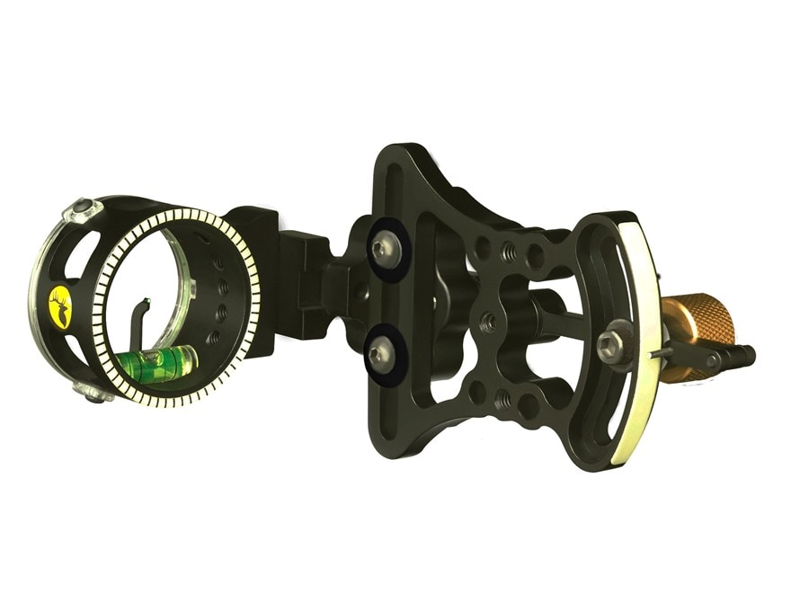 "Trophy Ridge Pursuit 1-Pin Slider Bow Sight with Light .019"" Pin Diameter Right Hand Black"
