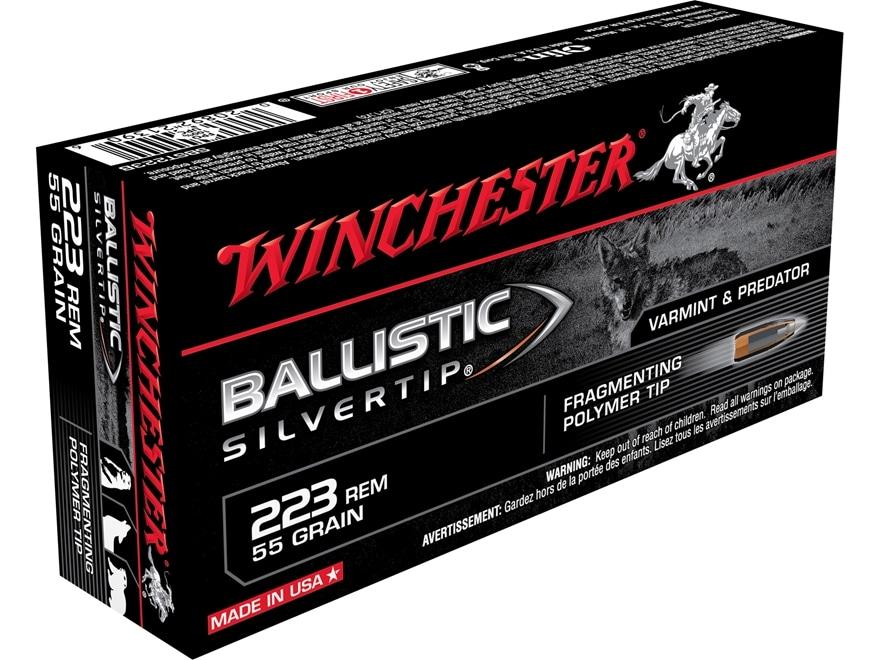 Winchester Ballistic Silvertip Varmint Ammunition 223 Remington 55 Grain Fragmenting Po...