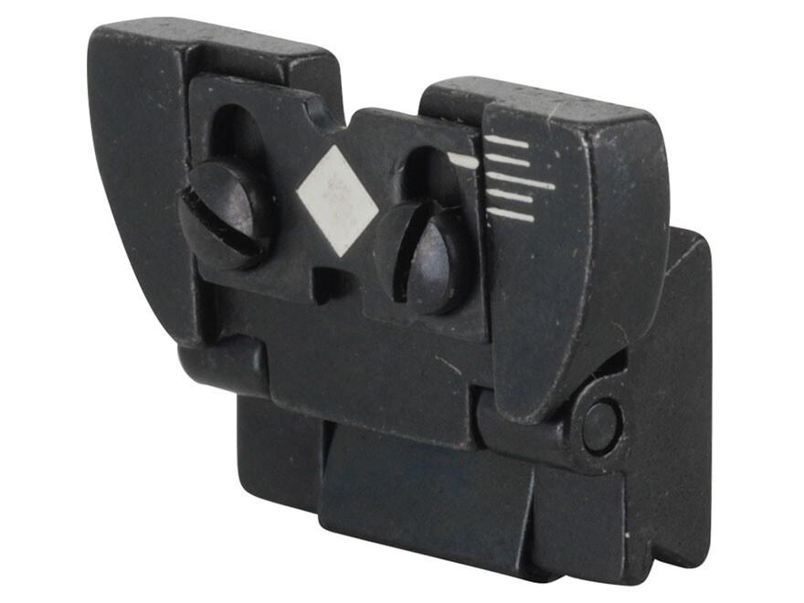 Ruger Rear Sight Complete Ruger 10/22 Magnum, 77 Mark II Standard, Sporter, Internation...