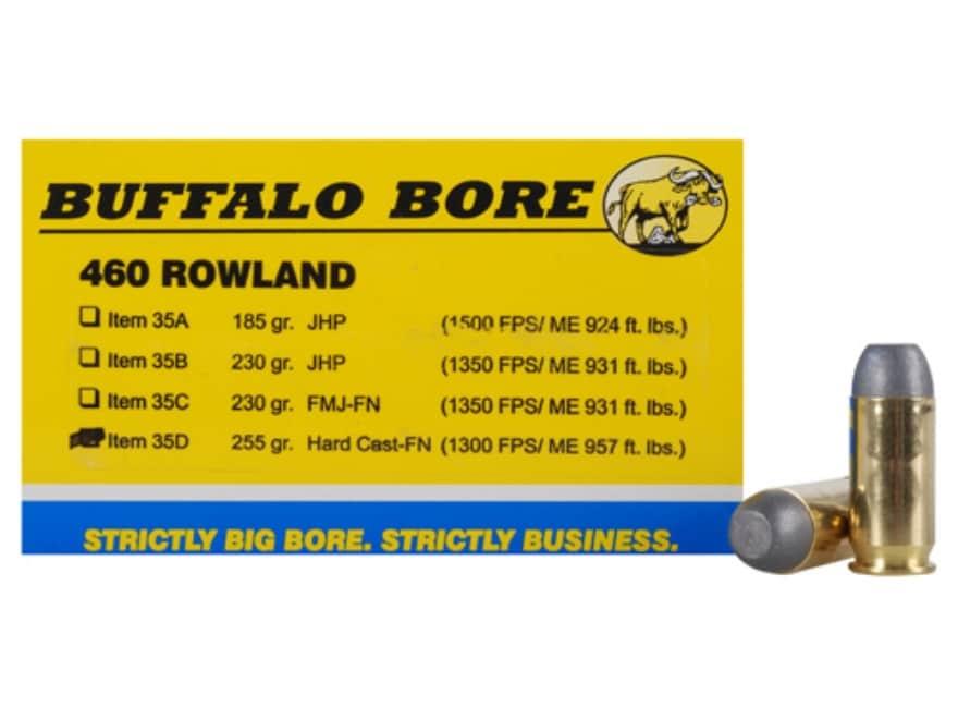 Buffalo Bore Ammunition 460 Rowland 255 Grain Hard Cast Lead Flat Nose Box of 20