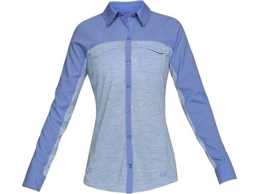 Under Armour Women's UA Threadborne Fish Hunter Hybrid Shirt Long Sleeve Polyester