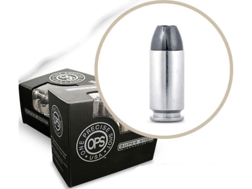 OPS Ammunition 9mm Luger 85 Grain Hollow Point Frangible Lead-Free Box of 20