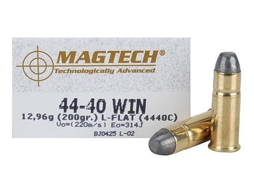 Magtech Cowboy Action Ammunition 44-40 WCF 200 Grain Lead Flat Nose Box of 50