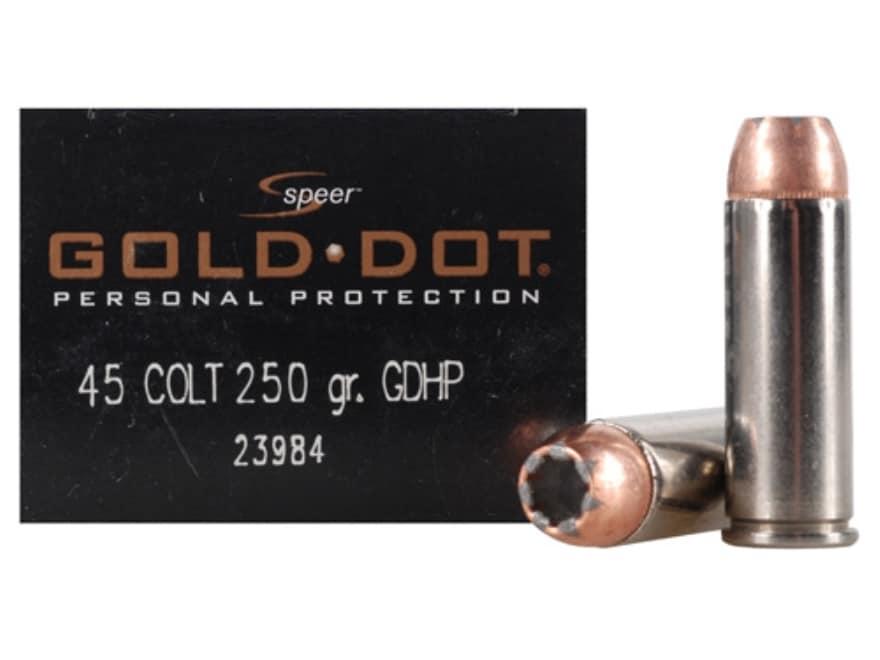 Speer Gold Dot Ammunition 45 Colt (Long Colt) 250 Grain Jacketed Hollow Point Box of 20