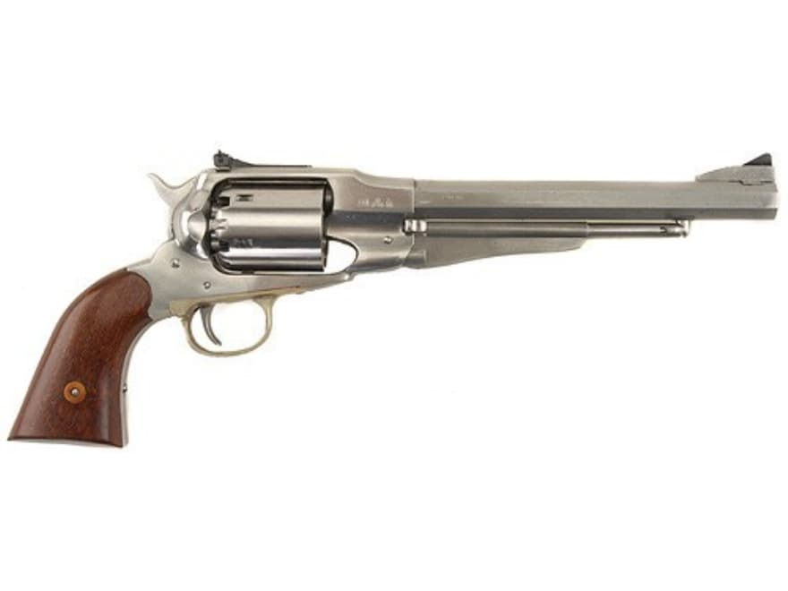 "Uberti 1858 Remington Black Powder Revolver 44 Caliber 8"" Barrel Adjustable Sights Stai..."