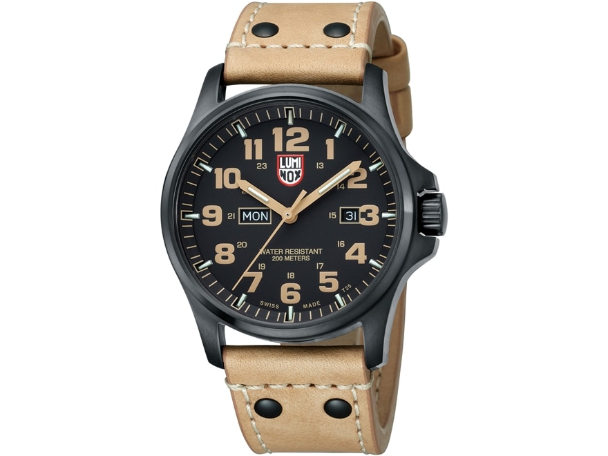 Luminox Field Series Atacama Field Day Date Watch Stainless Steel/Leather Black/Tan