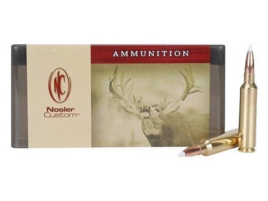 Nosler Custom Ammunition 6.5mm-284 Norma 130 Grain AccuBond Spitzer Box of 20