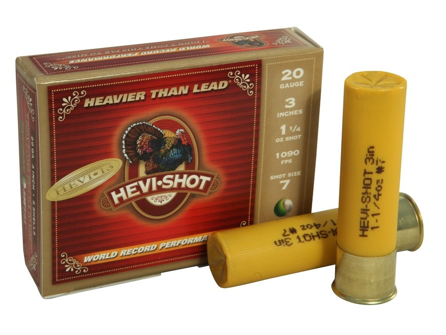 "Hevi-Shot Hevi-13 Turkey Ammunition 20 Gauge 3"" 1-1/4 oz #7 Hevi-Shot Non-Toxic Box of 5"