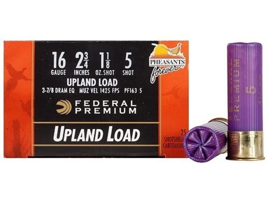 "Federal Premium Wing-Shok Ammunition 16 Gauge 2-3/4"" 1-1/8 oz Buffered #5 Copper Plated..."