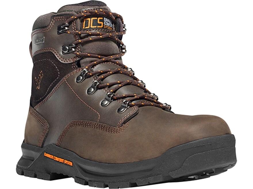 """Danner Crafter 6"""" Waterproof Non-Metallic Toe Work Boots Leather Brown Men's"""