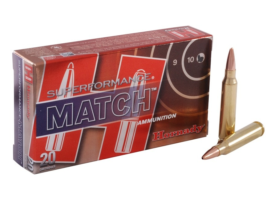 Hornady Superformance Match Ammunition 223 Remington 75 Grain Hollow Point Boat Tail Ma...