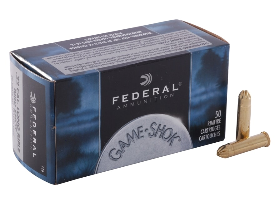 Federal Game-Shok Ammunition 22 Long Rifle 25 Grain #12 Shot Shotshell