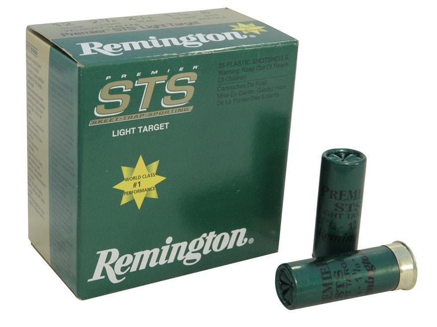 "Remington Premier STS Light Target Ammunition 12 Gauge 2-3/4"" 1-1/8 oz #8 Shot"