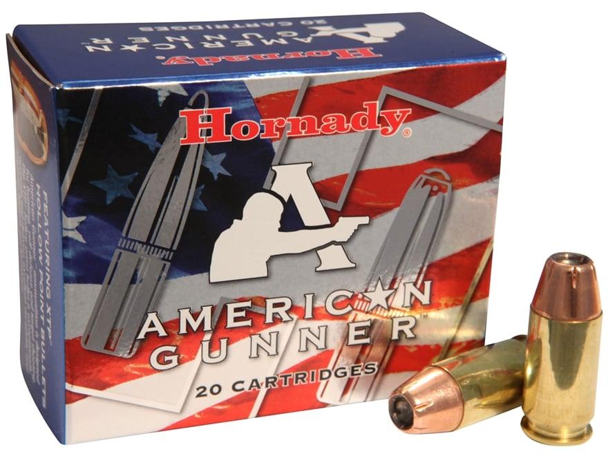 Hornady American Gunner Ammunition 45 ACP 185 Grain XTP Jacketed Hollow Point Box of 20
