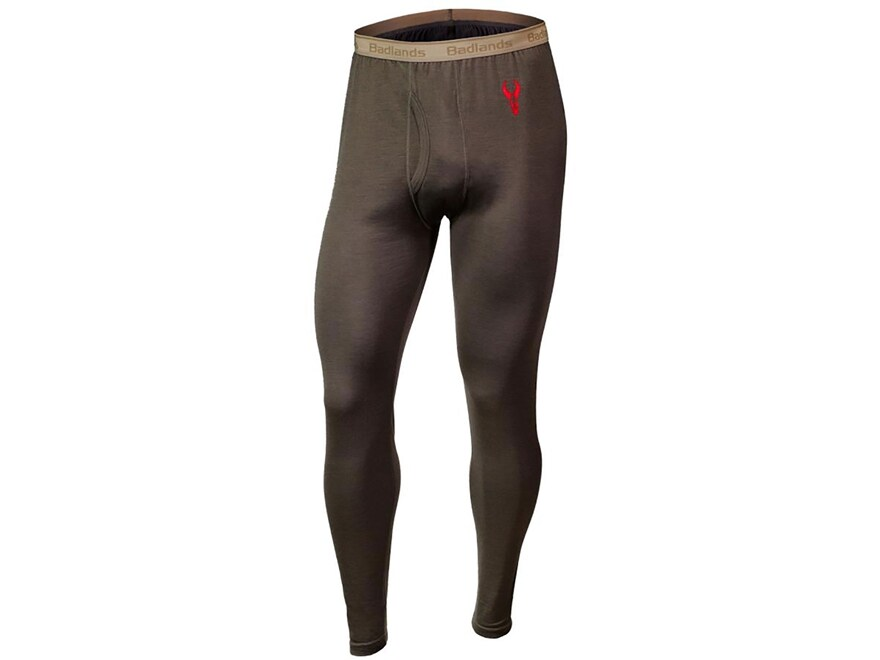 Badlands Men's Ovis Midweight Base Layer Pants Merino Wool Stone