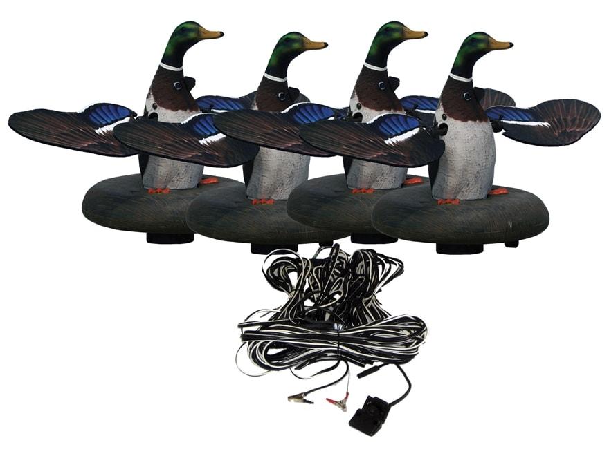 Higdon Floating Flasher 2 Plug N Hunt Drake 4 Unit Hard Wired Motion Duck Decoy System