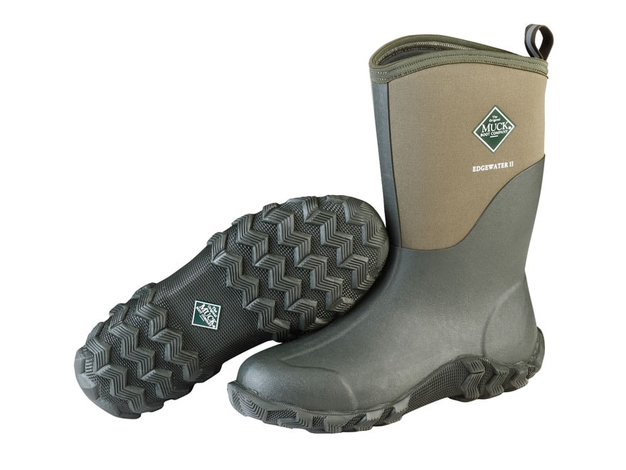 """Muck Edgewater II 12"""" Hunting Boots Rubber and Nylon Moss Men's"""