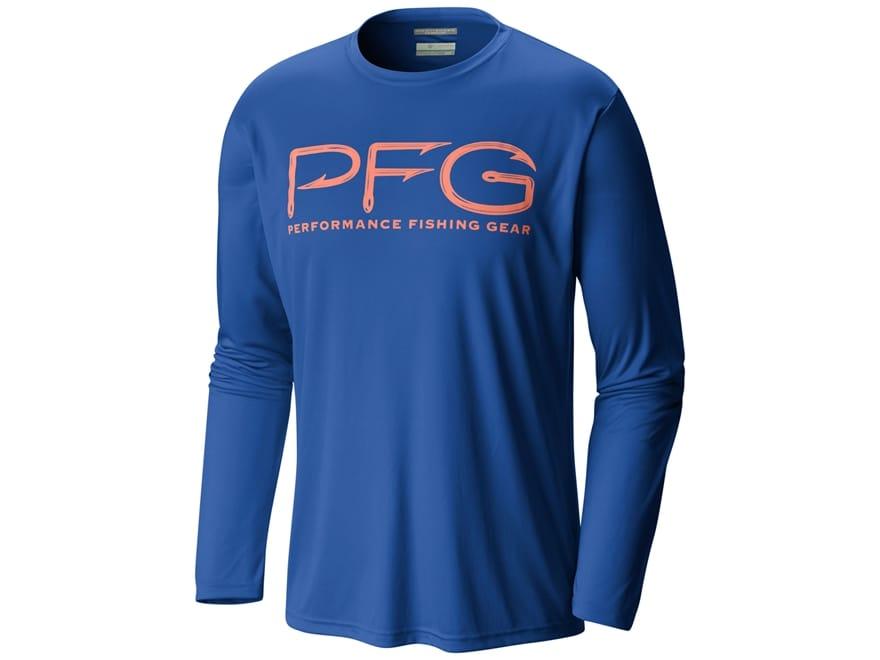 Columbia Men's PFG Terminal Tackle Hooks Shirt Long Sleeve Polyester