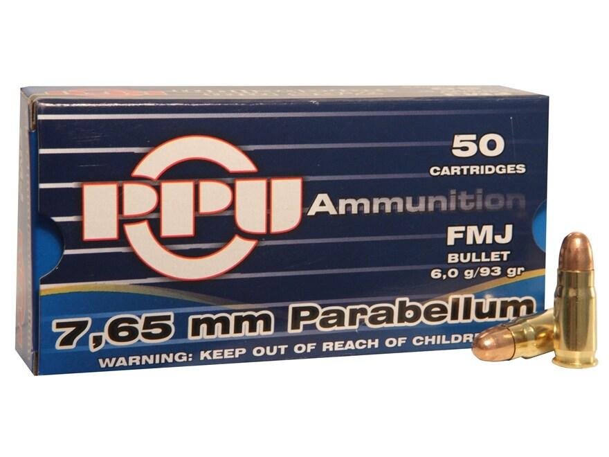 Prvi Partizan Ammunition 30 Luger 93 Grain Full Metal Jacket Flat Point Box of 50