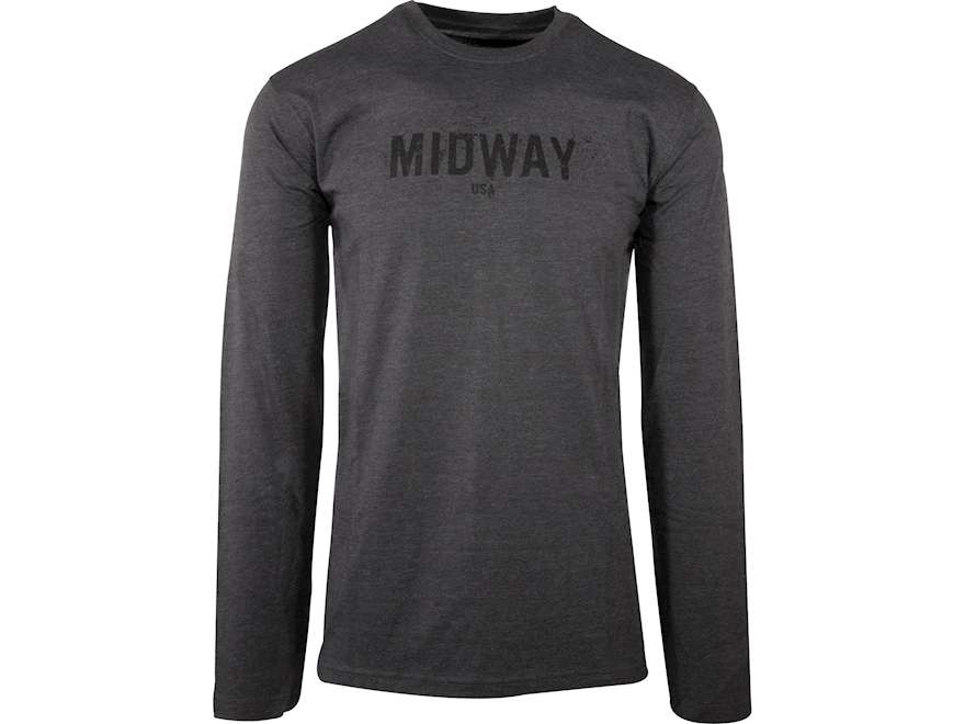 MidwayUSA Men's Long Sleeve T-Shirt 100% Cotton