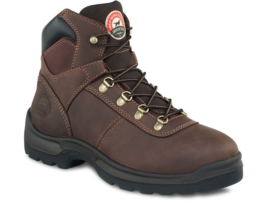 """Irish Setter Ely 6"""" Uninsulated Work Boots Leather Brown Men's"""