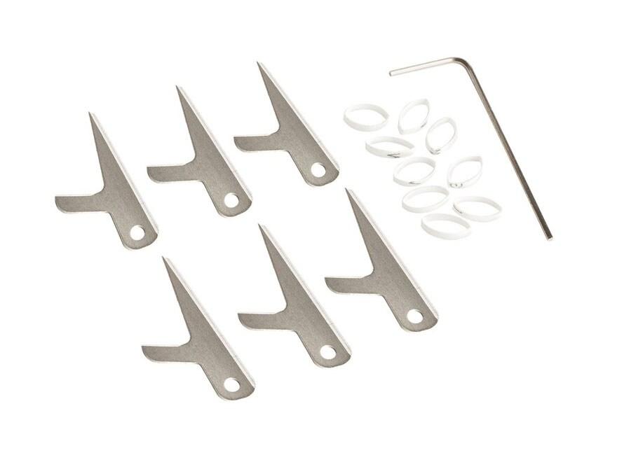 Swhacker 2-Blade Mechanical Broadhead 150 grain Replacement Blades Steel Pack of 6