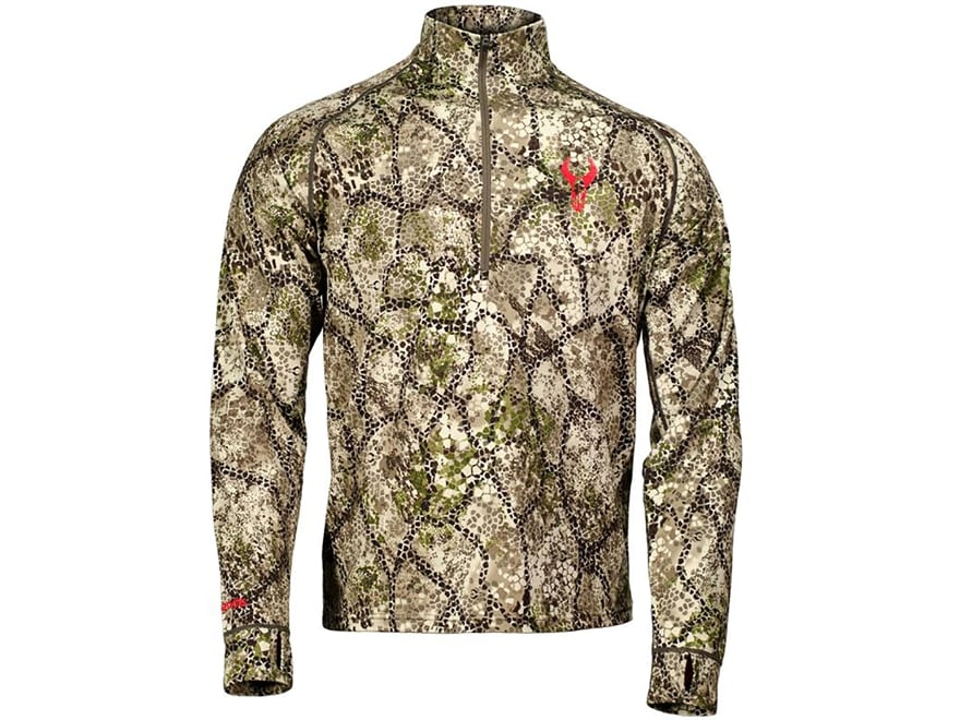 Badlands Men's Calor 1/4 Zip Base Layer Shirt Long Sleeve Polyester Approach Camo
